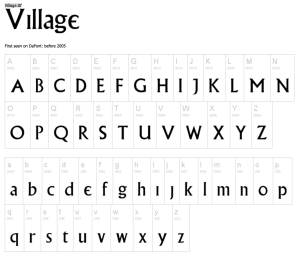 village font screen capture
